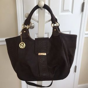 Brown & Gold DKNY purse